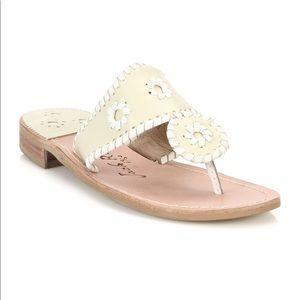 Jack Rogers Bone White Palm Beach Thong Sandals